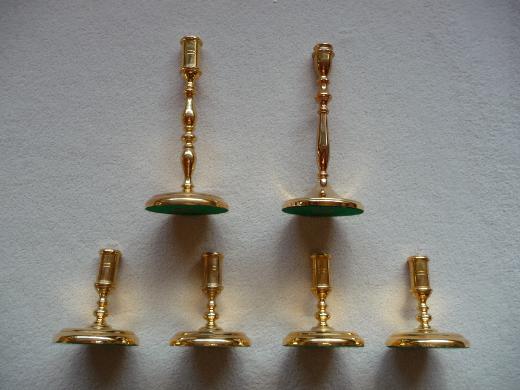 Kerzenhalter von BSF mit 24 Karat Feinvergoldung