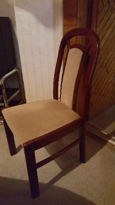 Esszimmer,  10 Stühle, Mahagoni