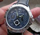 Herren-Marken-Armbanduhr, Edelstahl, sportliche Optik, Lederarmband, ungetragen/neu! - Diepholz