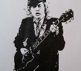 Gemälde Akt Acryl auf Papier 42x59cm DIN A2 Angus Young - Cuxhaven