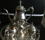 Antikes versilbertes Teeset, F.B.Rogers Silver Company 1883 - Osterholz-Scharmbeck