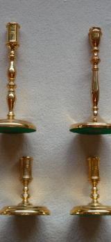 Kerzenhalter / Kerzenständer von BSF mit 24 Karat Feinvergoldung - Hambergen