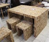 NEU: Esstisch - Essgruppe von Wolf Möbel: Tisch, 2 Bänke   2 Hocker - Delmenhorst