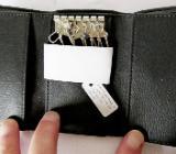 Neues Leder-Schlüsseletui für 6 Schlüssel, Nappa-Leder schwarz, noch unbenutzt! - Diepholz