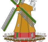 Galerieholländer mit Windrose Bauplan für Gartenwindmühlen - Verden (Aller)