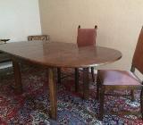 Alter Massiv-Holz Esstisch mit 6 passenden Stühlen - Bremen