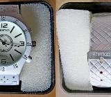 """Elegante, weiße """"ANIMOO""""-Damen-Armbanduhr, mit Kunstleder-Armband, ungetragen! - Diepholz"""