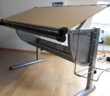 Jugend-Schreibtisch höhenverstellbar Buche/Metall - Thedinghausen