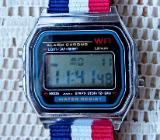 Neue LCD-Multifunktions-Armbanduhr, Batterie neu, Textil-Uhrenarmband! - Diepholz