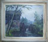 Willi Vogel, Gemälde, Wassermühle - Bremen