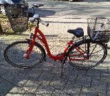 Citybike mit tiefem Einstieg 26'' rot/schwarz von H.P. Jakst, Osterholz, neuwertig - Bremen