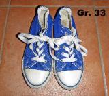Stoffschuhe Sneaker wie Chucks blau Gr. 33 - Bremen