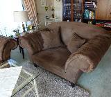 Sofa-Garnitur 3er-2er-Hocker mit 6 Kissen - Achim