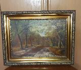 Bild vom Hamburger Maler H. Rode - Tarmstedt