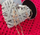 Süsswasserperlen Schmuck Set Armband und Halskette Silber - Wagenfeld