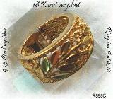 Silberschmuck, Ring, Silberring vergoldet - Fintel