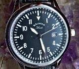 Neue Edelst.-Marken-Armbanduhr, Datum, Lederarmband, noch ungetragen in OVP! - Diepholz