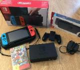 Nintendo Switch (wie neu) inklusive Mario Odyssey - Hambergen