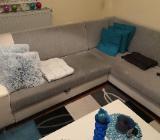 Sofa / Couch in L-Form von Dodenhof, schlicht, modern und weiss + Schlaffunktion - Verden (Aller)