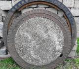 Kanaldeckel, Gullydeckel aus Gußeisen/Beton mit Ring - Bassum
