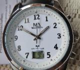Marken-FUNK-Armbanduhr, Edelstahl, mit Echtleder-Armband, Anleitung - unbenutzt, ansehen! - Diepholz