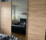 Schwebetürenschrank, Sonoma Eiche mit Spiegeltür - Weyhe