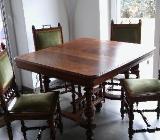 Esstisch Eiche Antik erweiterbar mit 6 passenden Stühlen - Saterland