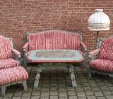 Sitzgruppe (Nr.218) Voglauer Anno 1700 altblau Fichte massiv Holz - Sulingen