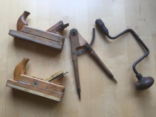 Holzwerkzeuge 50er Jahre -Sammlerstücke-