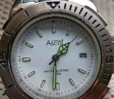 Marken-Armbanduhr, Gliederarmband, alles Edelstahl, Batterie neu, guter Zustand! - Diepholz