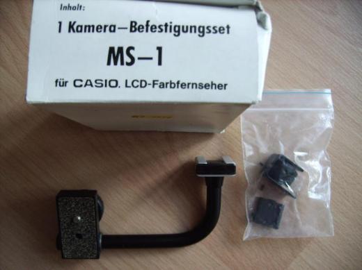 """Kamera-Befestigungsset """"MS-1"""" für CASIO LCD-Fernseher"""