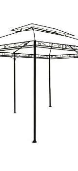 Stahlgestänge für Deuba Pavillon Topas 3x4 m inkl.Dachhaube (NEU) - Verden (Aller)
