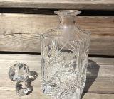 wunderschöne geschliffene kristallglas Flasche mit Glas stopfen - Bremen