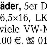 4 hübsche Aluräder, 5er D - Lilienthal