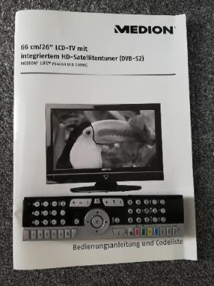 """26"""" / 66cm mit integriertem HD-Satellitentuner (DVB-S2)"""