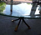 Couchtisch, Glasplatte, Metallfuß - Schwaförden