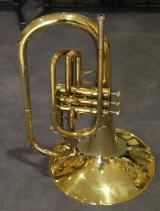 KING F - Horn / Mellophon, Made in U.S.A. mit Koffer