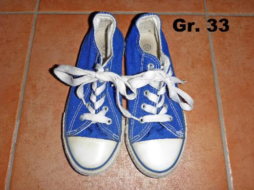 Stoffschuhe Chucks Sneaker Gr. 33