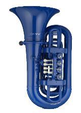 Coolwind BBb Kunststoff - Tuba blau, inkl. Softbag und Mundstück