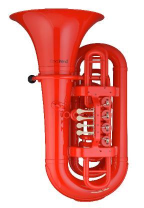 Coolwind BBb Kunststoff - Tuba rot, inkl. Softbag und Mundstück - Bremen Mitte