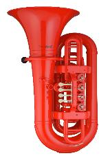 Coolwind BBb Kunststoff - Tuba rot, inkl. Softbag und Mundstück