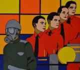 "Acrylbild ""The Men With The Masks"" - Bremen"