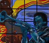"Acrylbild ""Afro Blue #1: … about Miles"" - Bremen"