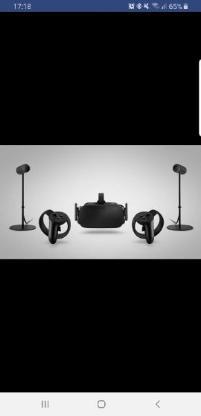 Oculus Rift Set (VR Brille, 2 Handcontroller, 2 Sensoren, Fernbedienung)