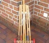 Krocket-Set, Holz, mit 6 Schlägern - Bremen