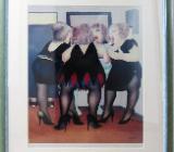 Original Lithographie von Beryl Cook, Handsigniert! - Bremen