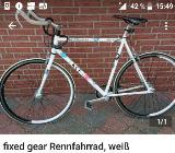 fixed gear Rennfahrrad weiß - Delmenhorst