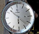 Edelstahl-Marken-Armbanduhr mit Datumanzeige und Milanaise-Uhrenarmband, neu in OVP - Diepholz