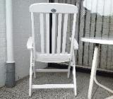 4 Gartenstühle (Mesch) kpl. mit Auflageckfein inkl. Tisch u.Hocker - Bremen Blumenthal