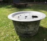 PE-Brunnenbecken 90 l und GFK-Abdeckung für Wasserspiele und Zierbrunnen - Bremen